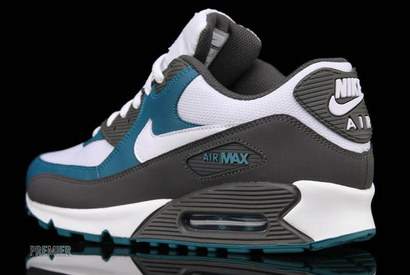 size 40 f940d 03b26 Nike Air Max 90 White Midnight Fog Lush Teal 325018-059 (5)