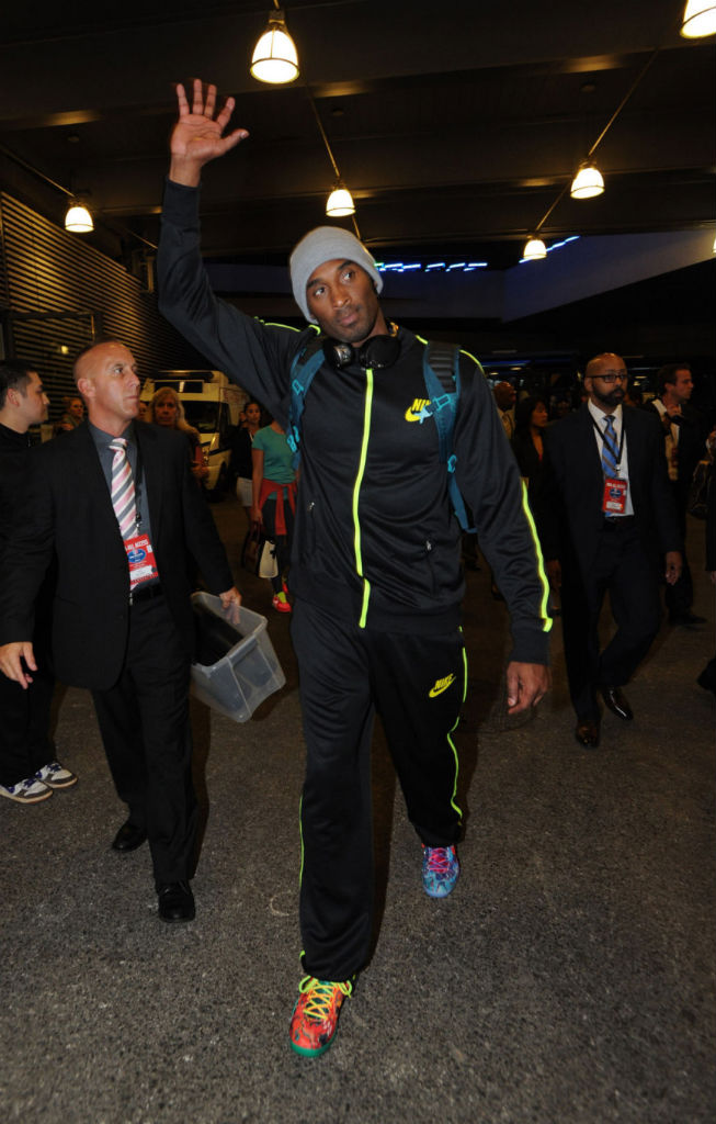 Kobe Bryant wearing Nike Kobe 8 System What the Kobe