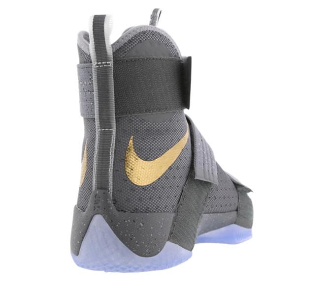 Nike LeBron Soldier 10 Grey Heel