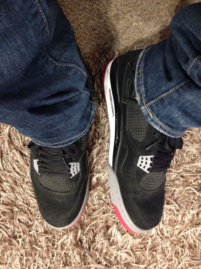 Spotlight // Forum Staff Weekly WDYWT? - 11.16.13 - Air Jordan 4 IV Retro Black/Red by dannyiss
