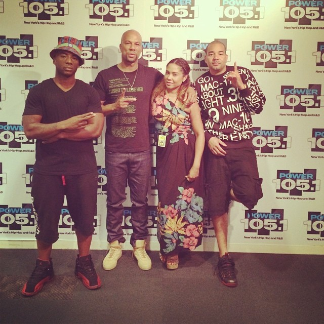 390438f38b2b6a Charlamagne wearing Air Jordan XII 12 Flu Game  DJ Envy wearing Nike Air  Foamposite One