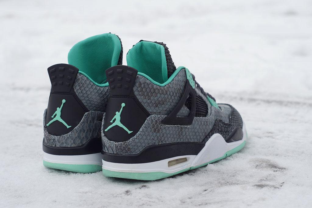 25883dc45fa Air Jordan 4  Python Green Glow  by JBF Customs (4)