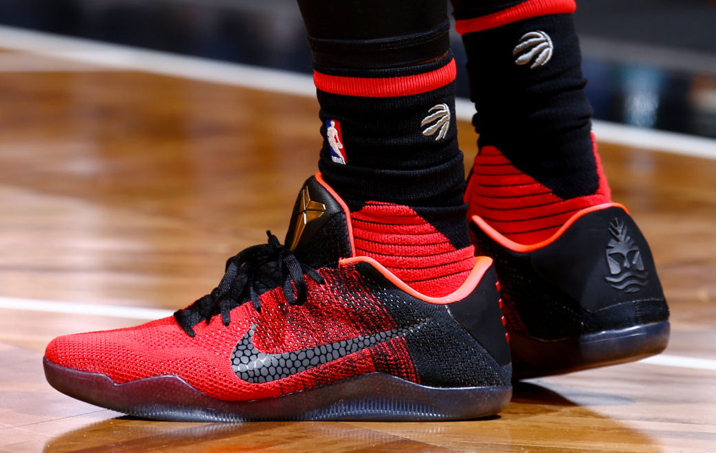 DeMar DeRozan wearing the 'Achilles Heel' Nike Kobe 11 (1)