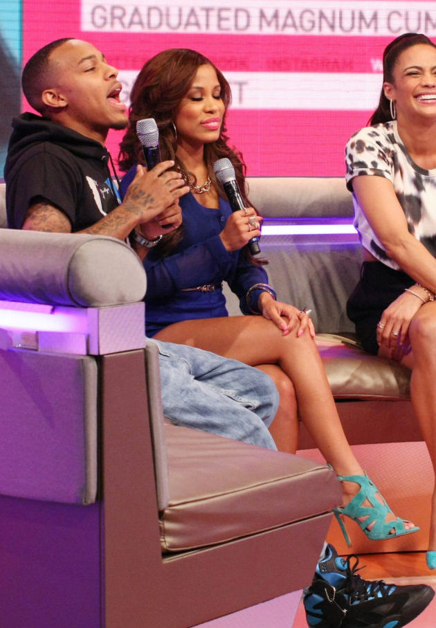 Bow Wow wearing Reebok Shaq Attaq Black/Blue (2)