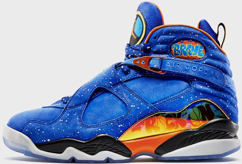 Air Jordan 8 Retro DB Squadron Blue/Electro Orange-Black