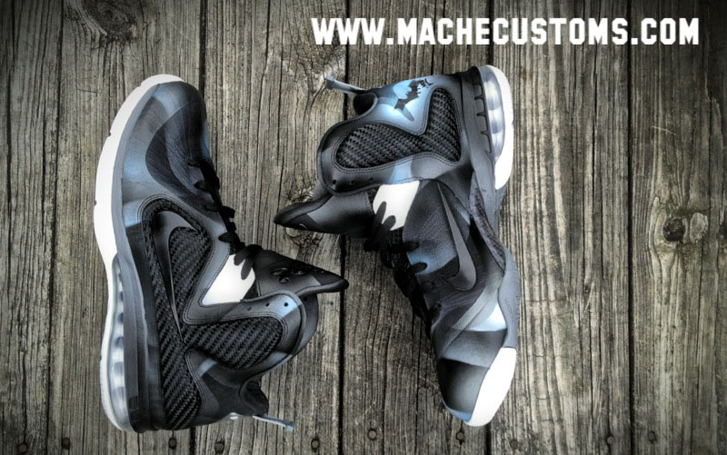 Nike LeBron 9 Dark Knight by Mache Custom Kicks (1)