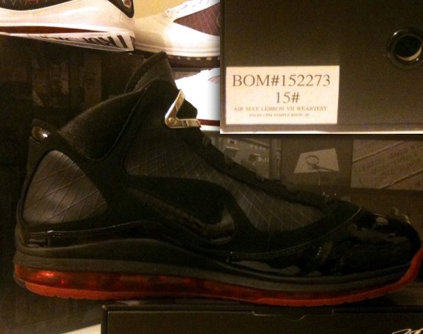 Nike Air Max LeBron VII Black Red Wear-Test Sample