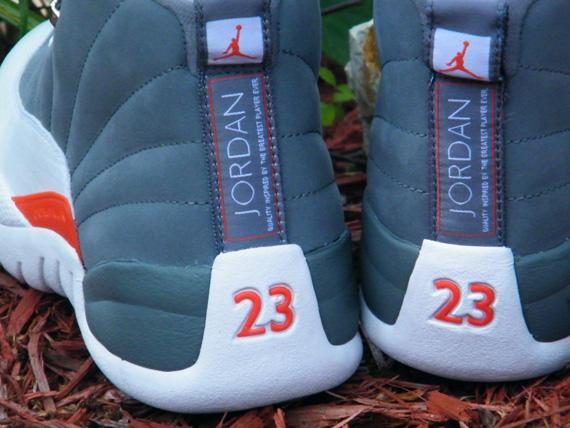 detailed look 69c97 a2292 Air Jordan 12 Retro - Cool Grey/White-Team Orange - Detailed ...