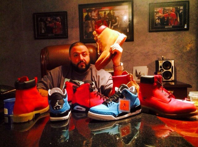 DJ Khaled Picks Up Air Jordan 3 Powder, Air Jordan 6 Infrared 23, VILLA x Timberland
