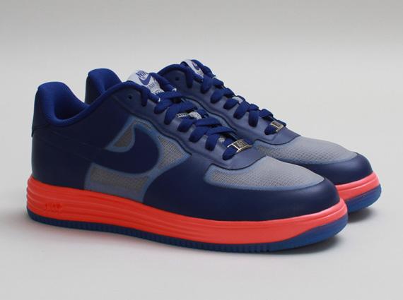Nike Lunar Force 1 Fuse LTHR Wolf GreyDeep Royal Atomic