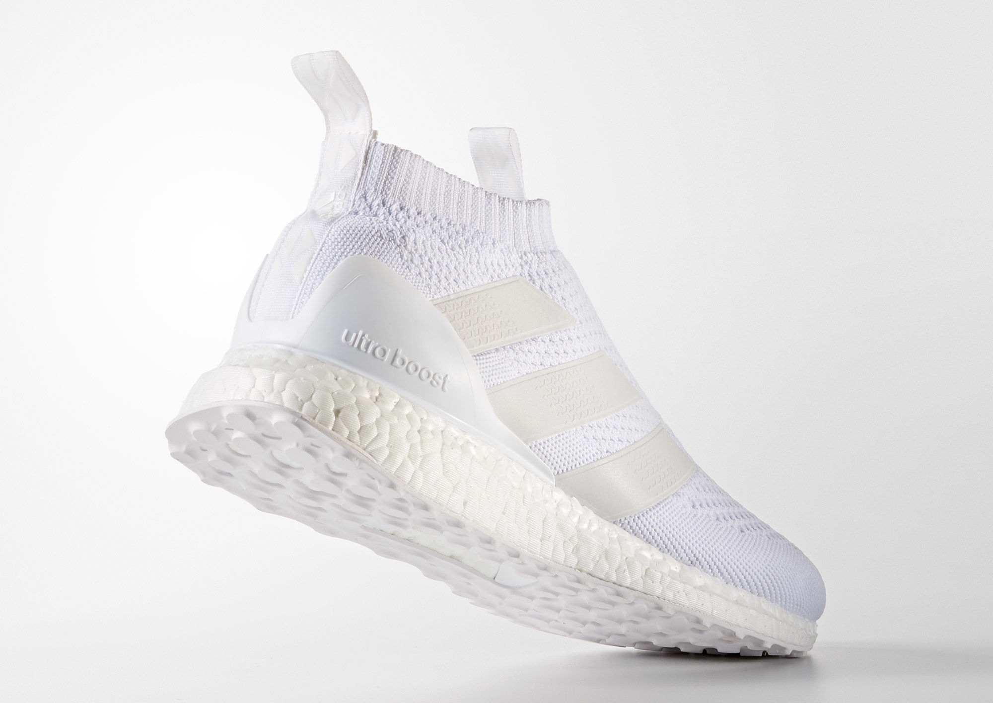 Adidas Pure Control Ultra Boost Triple White Heel