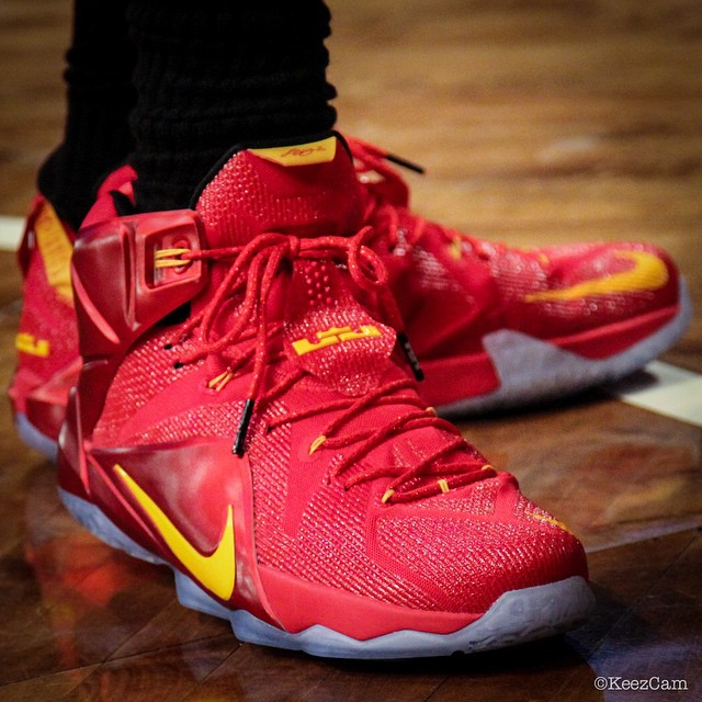 Nike LeBron XII 12 Red/Yellow PE (4)