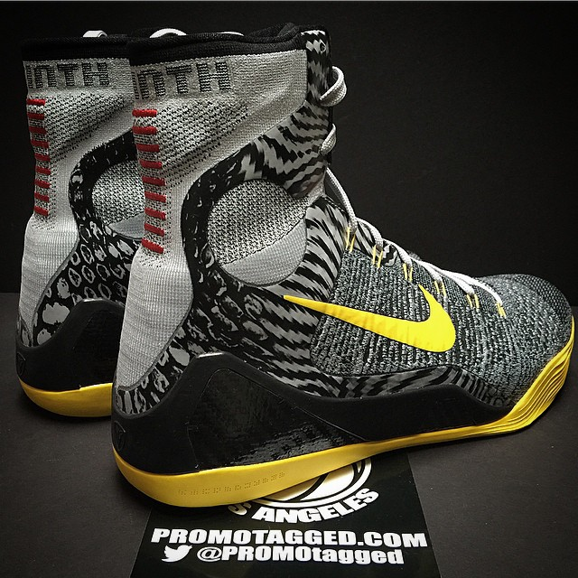 Nike Kobe 9 Elite Wolf Grey/Tour Yellow PE (2)