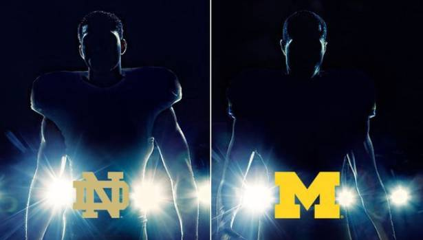 "adidas Unveils Michigan & Notre Dame ""Under The Lights"" Game Uniforms"