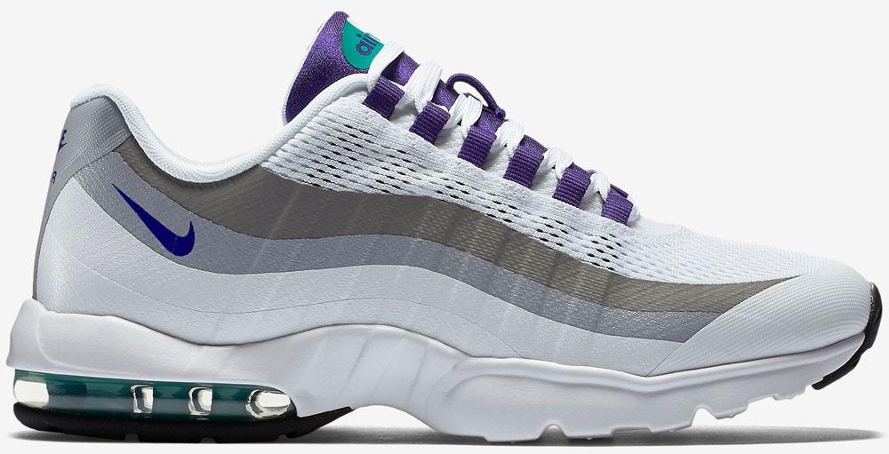 Nike Air Max '95 Ultra Women's White/Court Purple-Emerald Green-Cool Grey