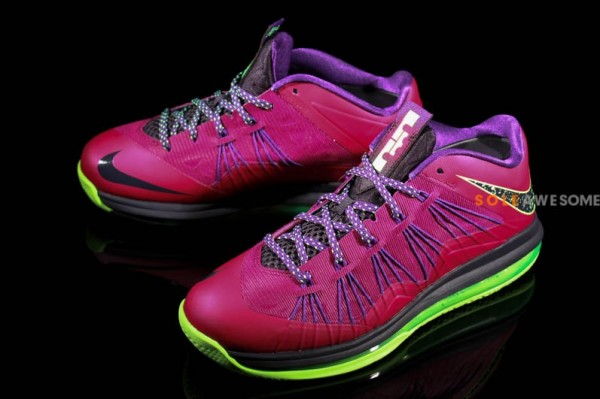 8310e264ff08 Stay tuned to Sole Collector for further details on the Pink Purple Neon  Green Nike Air Max LeBron X Low.