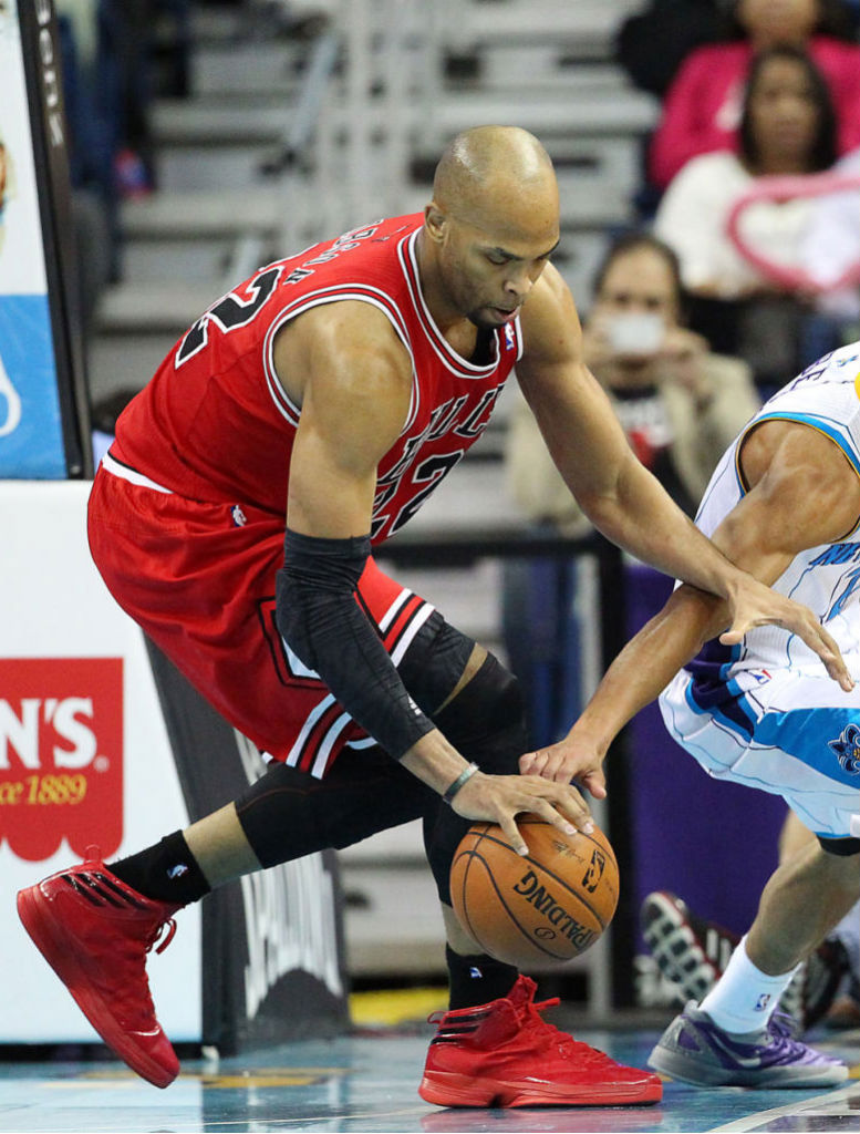 Taj Gibson wearing adidas Crazy Fast Away PE