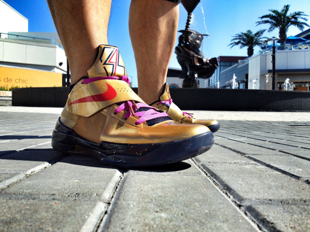 Spotlight // Forum Staff Weekly WDYWT? - 9.14.13 - Nike Zoom KD IV Gold Medal by Shooter