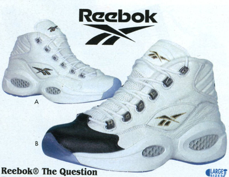 Reebok Question White/White & White/Black