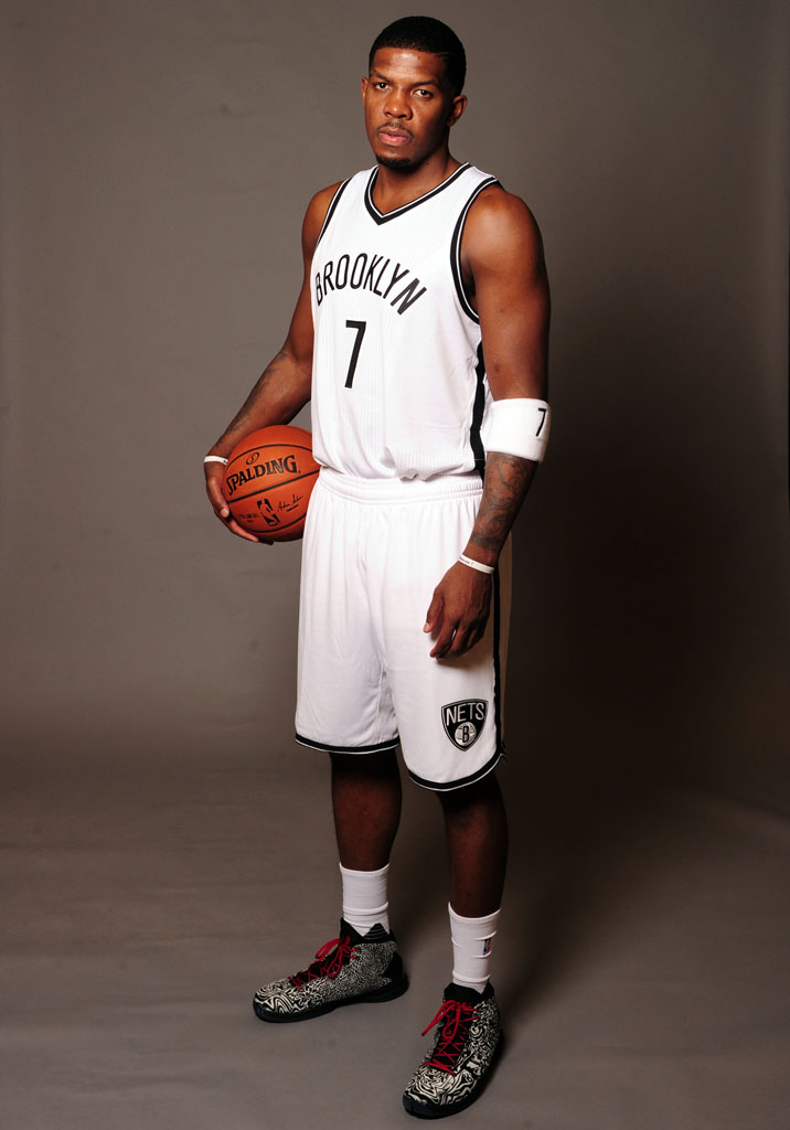 Joe Johnson wearing the Jordan Super.Fly 4 Jacquard