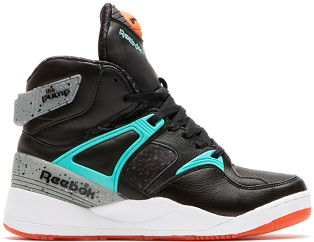 Reebok The Pump Certified Black/Teal-Orange-White