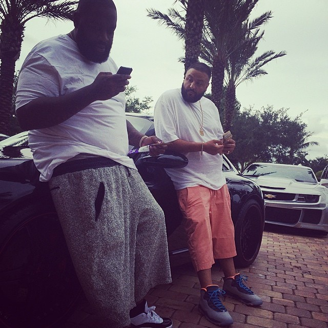 DJ Khaled wearing Air Jordan X 10 Bobcats