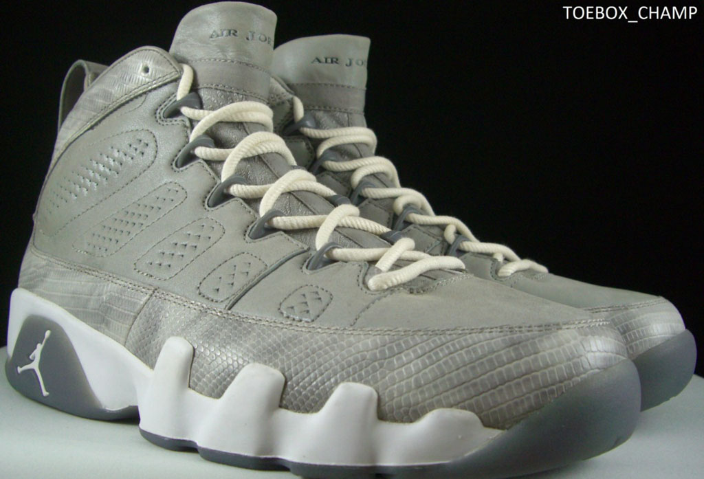 Bin23 Air Jordan IX 9 Cool Grey Snakeskin Sample
