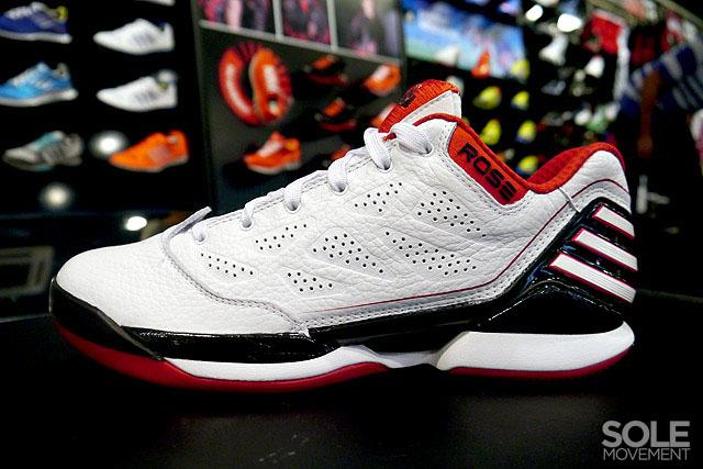 649753dc4c45 ... get adidas adizero rose 2.5 low white black red 1 cb177 2da1c ...