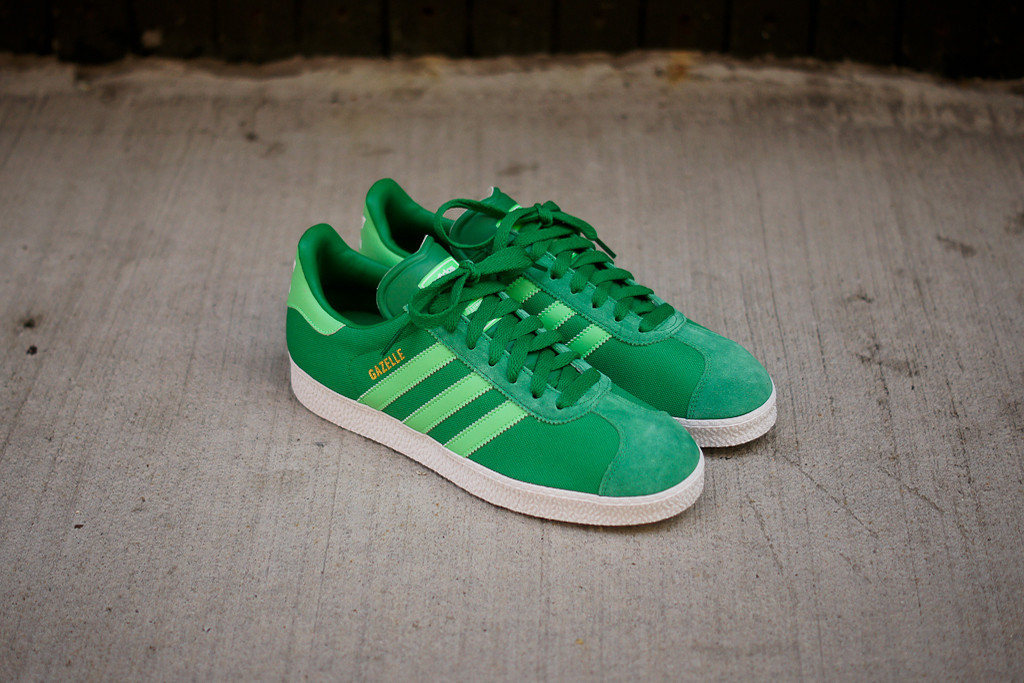 the latest e23c0 9391a adidas Originals cooks up a green-on-green version of the Gazelle II.