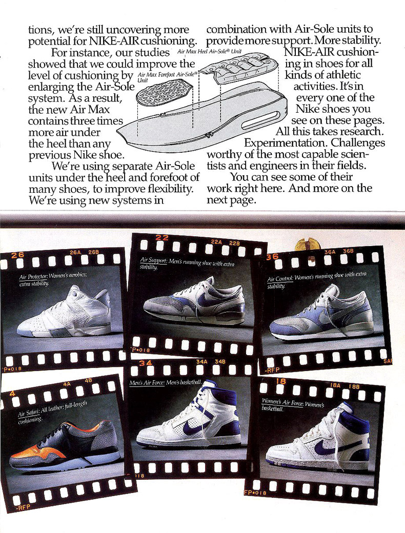 separation shoes 5623f 3b9c4 Vintage Ad Special Feature: Nike Air Max Ad Insert | Sole Collector