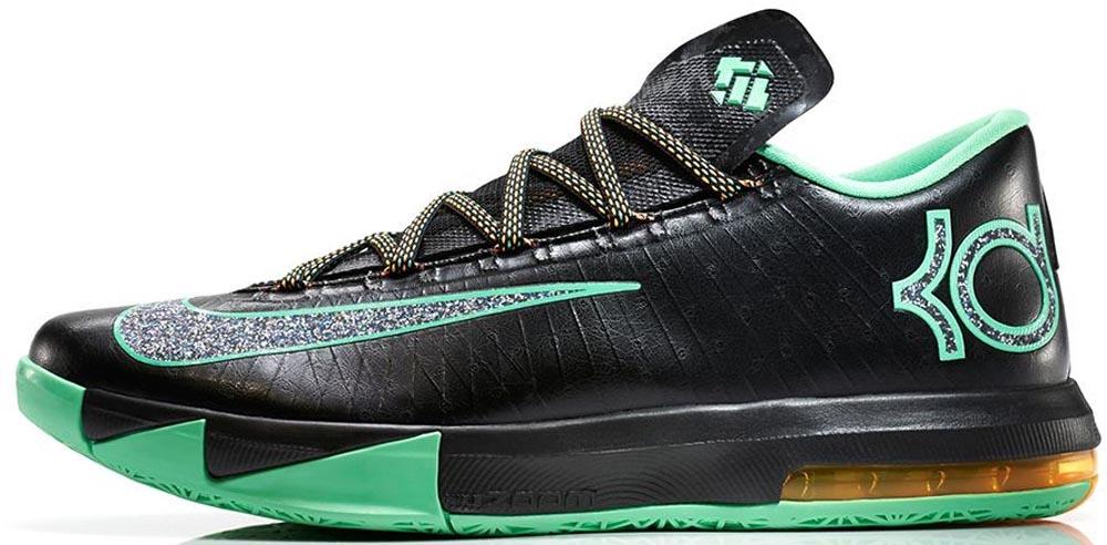 Nike KD VI Black/Metallic Clear-Light Lucid Green-Atomic Mango