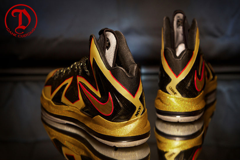 3733b25183ec Nike LeBron X PS Elite Championship For LeBron James By Dank Customs (12)