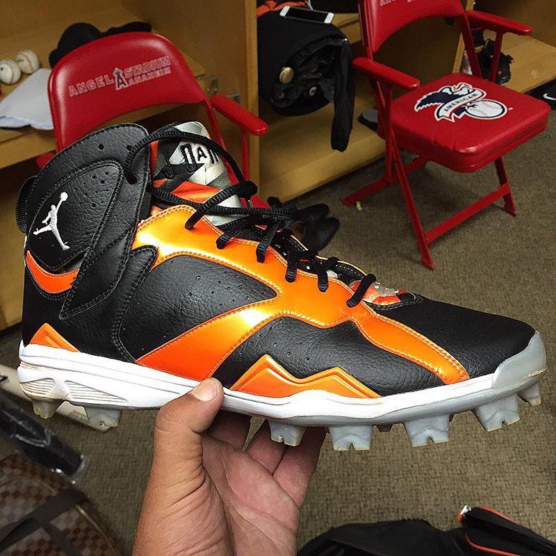 Manny Machado Air Jordan 7 Orioles PE Cleats