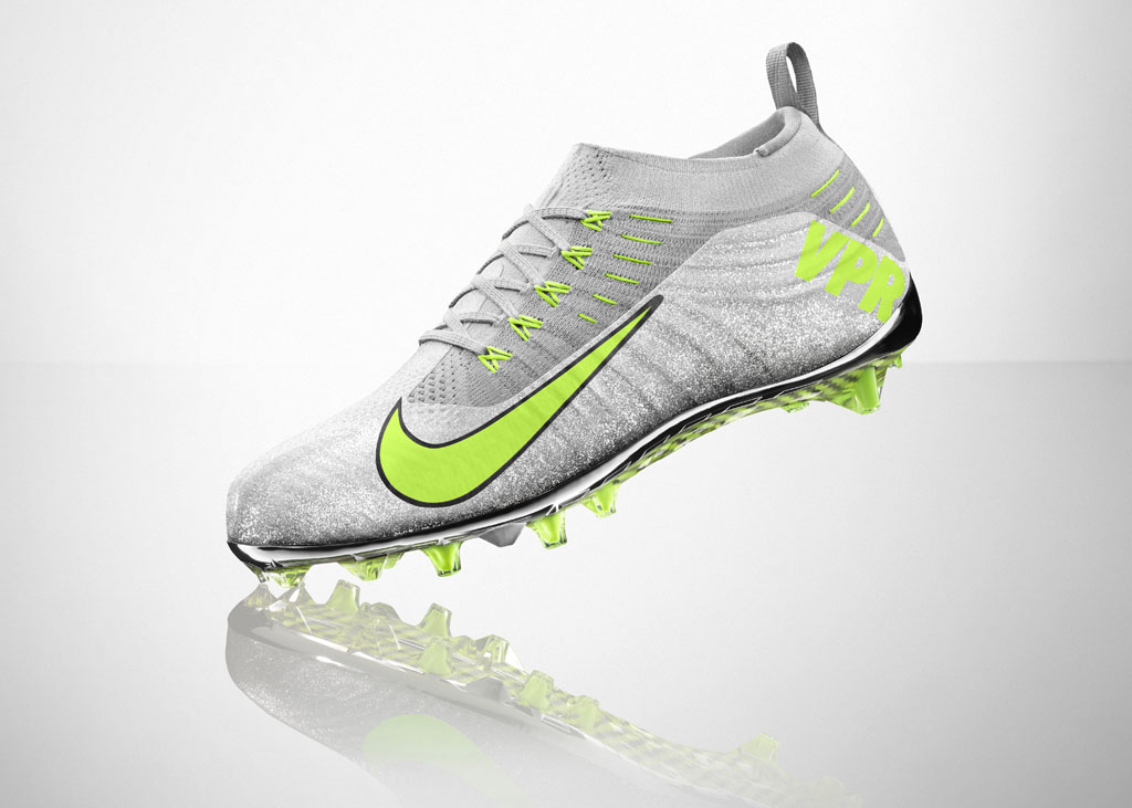 Nike Vapor Ultimate Flyknit Cleat Silver 3M (5)