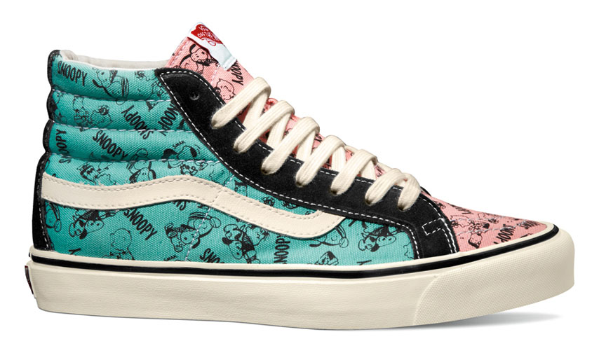 Peanuts x Vans Vault Collection - Sk8 Hi LX Snoopy & the Gang Black