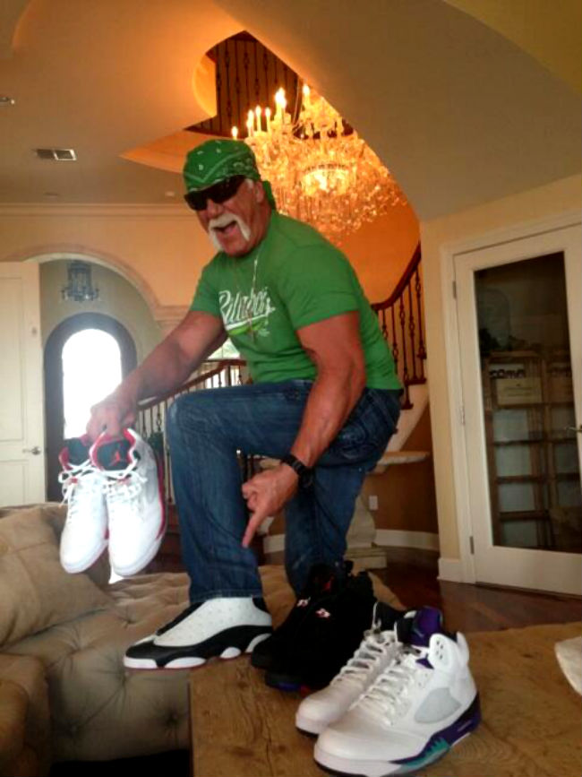 Hulk Hogan Is Still Picking Up Jordan Retros