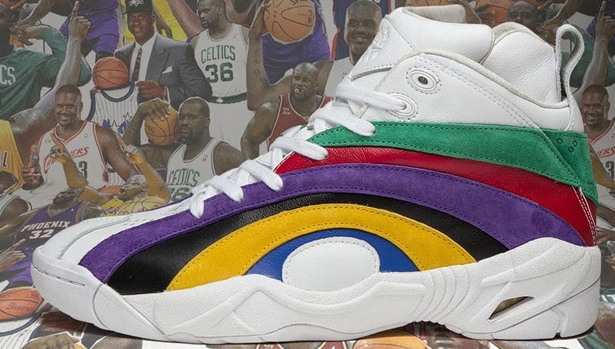 Reebok Shaqnosis White/Green-Red