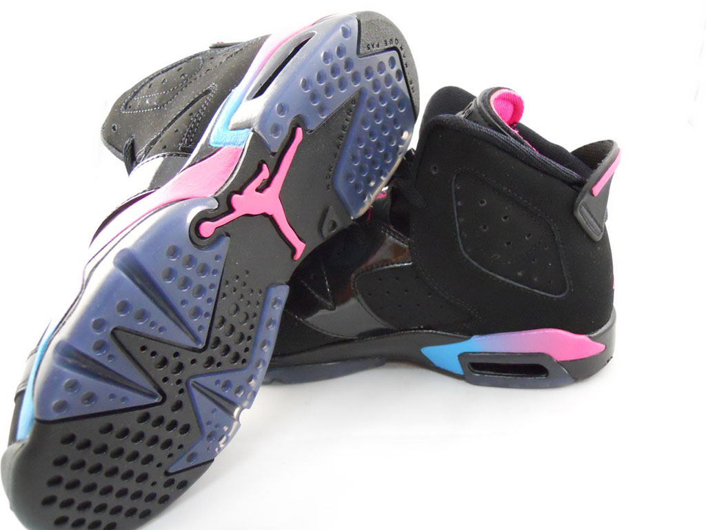 Air Jordan VI 6 GS Black Pink Flash Marina Blue 543390-050 (4)