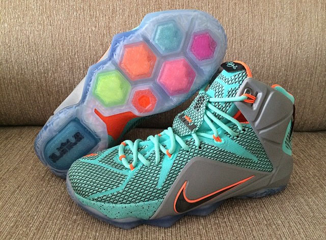 Nike LeBron XII 12 Teal/Grey-Orange Sample (22)