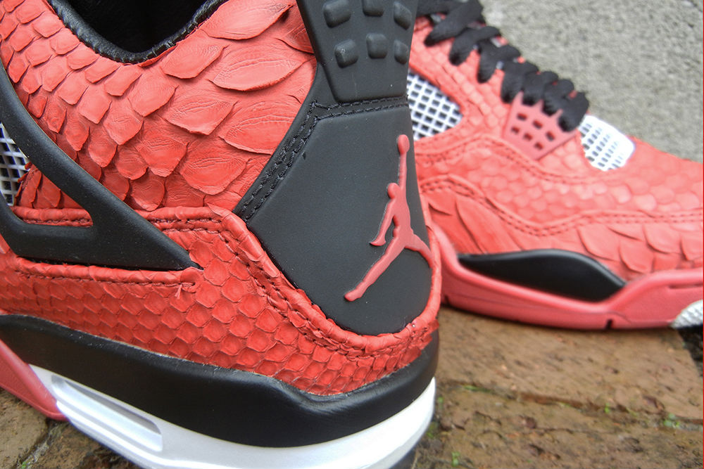 "Air Jordan IV 4 Retro ""Red Python"" by JBF Customs (4)"