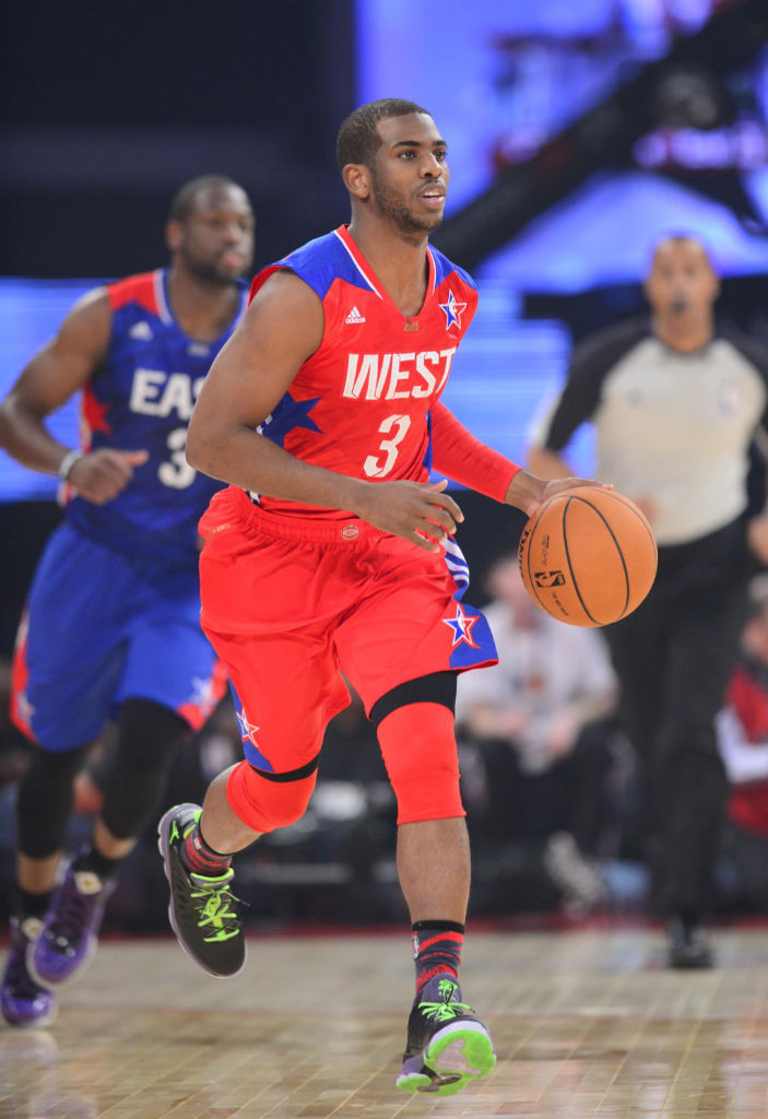 Chris Paul wearing Jordan CP3.VI All-Star Stealth (1)