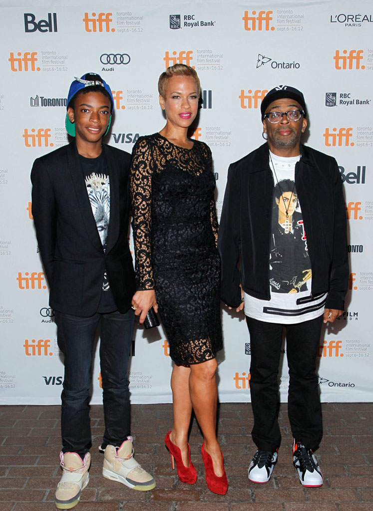 Spike Lee wearing Air Jordan VII 7 Bad 25 by Van Monroe (2)