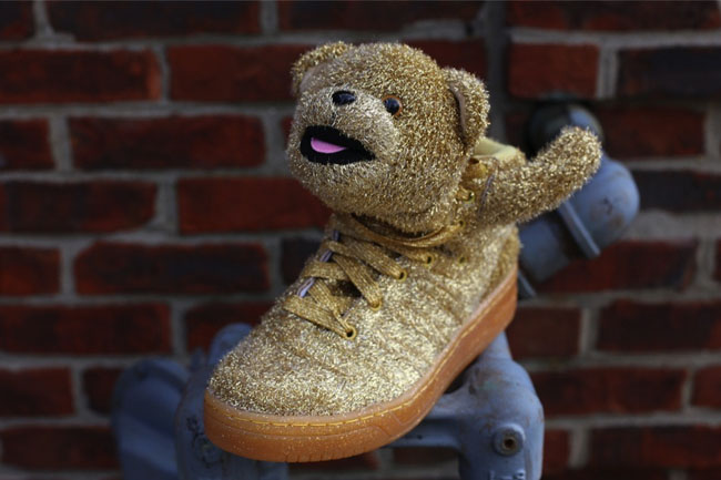 adidas jeremy scott bear gold