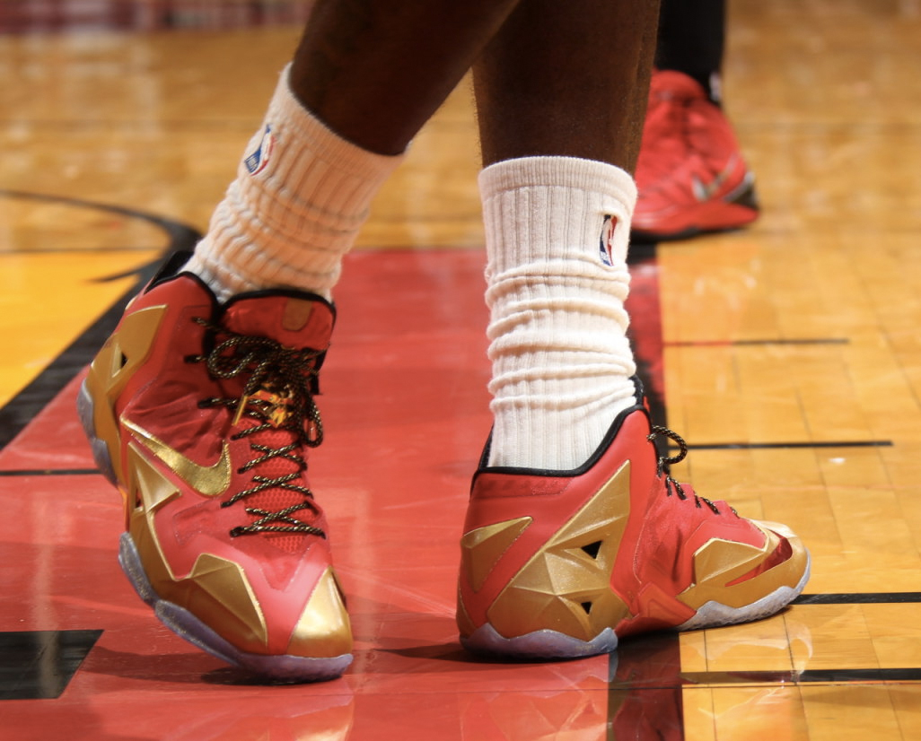 59c277f9f1549 All Of The Times LeBron James Wore The Nike LeBron 11 This Season ...