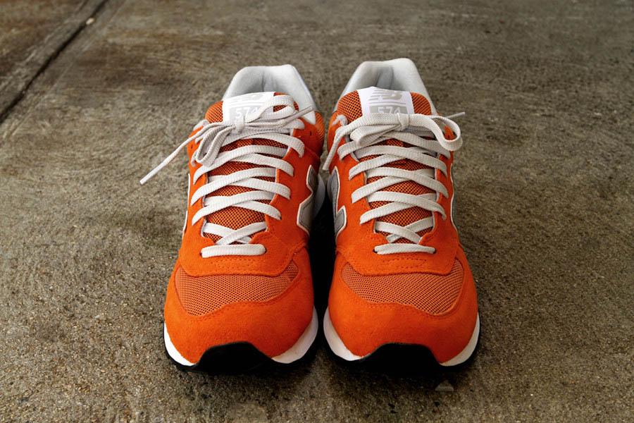 new balance 574 canvas orange