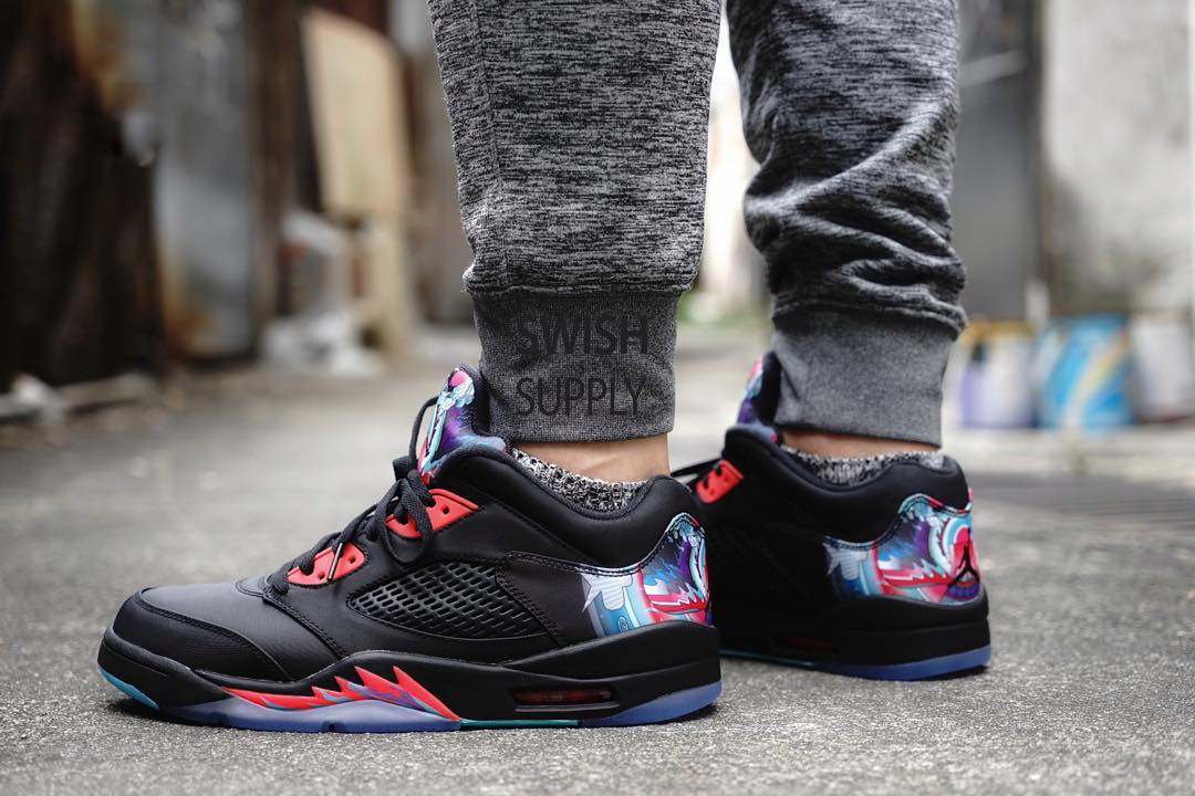 ccff7151f29813 See What the  China  Air Jordan 5 Low Looks Like On-Foot