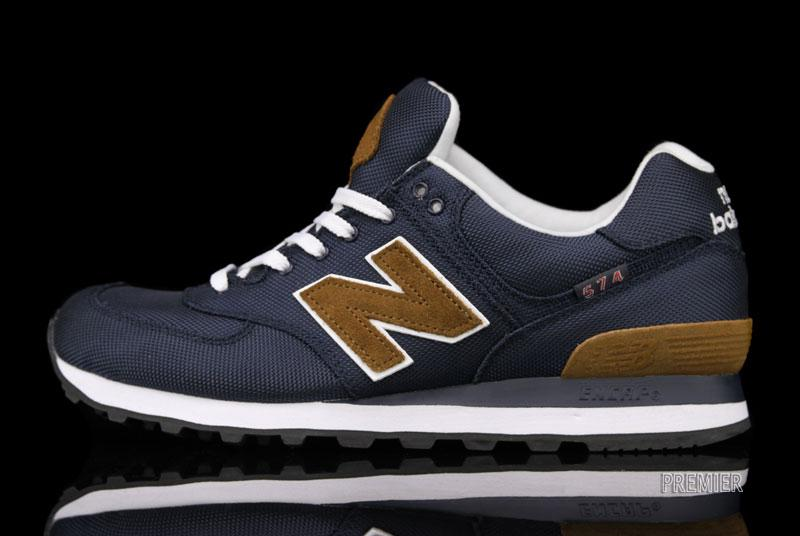 new balance 574 blue and brown