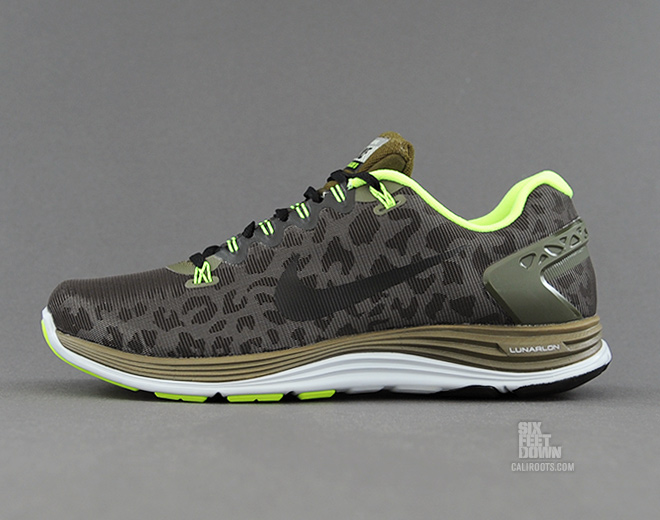 huge selection of 053a7 9ca04 ... closeout nike lunarglide 5 shield cheetah in dark loden profile ca348  b6915