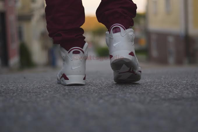 Air Jordan 6 Maroon On-Foot 384664-116 (16)