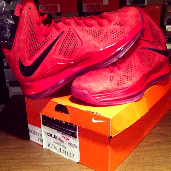 Nike LeBron X Red Suede (1)